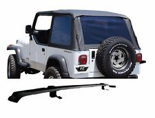 Rampage Frameless Tinted Soft Top & Header Channel Set 97-06 Jeep Wrangler TJ