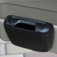 1pc Car Door Side Trash Can Bin Cargo Sundries Garbage Storage Collect Box Black