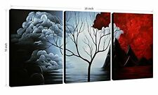 Modern Abstract Painting Cloud Tree Wall Decor Landscape Canvas Artwork Art