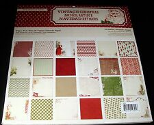 "MME Cardstock Paper Stack Pad Vintage Christmas 48 sheets 12"" x 12"" Scrapbook"