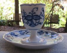 Meissen Blue Onion Egg Cup With Underplate