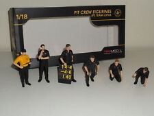 TSM PIT CREW FIGURINES JPS TEAM LOTUS 1:18 MODEL CAR 1977 TSM 12AC08 6 MEN SET