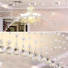 1M Glass Crystal Beads Curtain Window Door Curtain Passage Wedding Backdrop