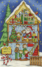"DMC Christmas Cross Stitch Kit ""Santa's Grotto"""