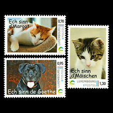 Luxembourg 2016 - Domestic Animals Cats Dogs - MNH