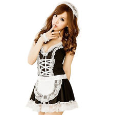 Hot Women's Maid Servant Lace Costume Female Sexy Dress Sexy Lingerie