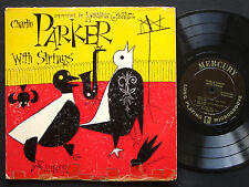 "CHARLIE PARKER With Strings 10"" LP MERCURY MG C-509 US 1954 MONO DSM Buddy Rich"
