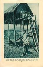 1920 Vietnam Moi Cabin On Stilts Marble Mountain Pagoda Tourane