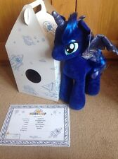 BNWT BAB Build a Bear PRINCESS LUNA My Little Pony con Box & Certificato.