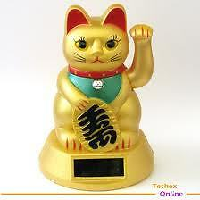 Solar Powered CAT Golden - Fengshui Item