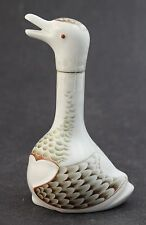 Miniature Armagnac Chabot Champagne Bottle by Haviland Limoges Porcelain Duck