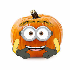 Despicable Me 'Minions Wood Pumpkin Decoration Push-In Halloween Outdoor Yard