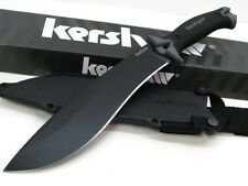 KERSHAW Black Tactical Survival CAMP 10 Straight Fixed Blade Knife + Sheath 1077
