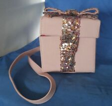 Betsey Johnson GIFT BOX Pink Sequin Bow Purse Bag Christmas Birthday Present