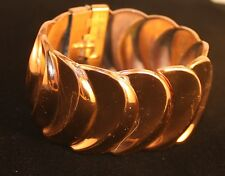 "Vintage Renoir  of California Copper Hinged Bangle Bracelet Early 60s ""Vortex"""