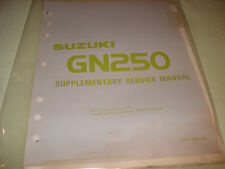Suzuki 1983 GN250 Supplementary Service Manual P/N 99501-32030-03E