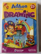 ADIBOO PRESENTS DRAWING PC CD-ROM / MAC GAME AGES 4-7 brand new & sealed UK !