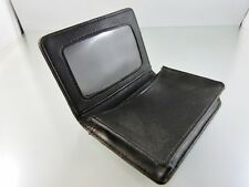 MEN'S BLACK LEATHER CREDIT CARD, BUSINESS CARD AND DRIVERS LICENCE HOLDER