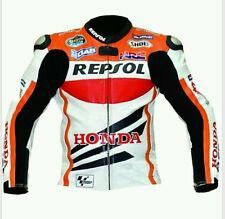 HONDA REPSOL MotoGp MOTORBIKE,MOTORCYCLE LEATHER JACKET ( Marc Marquez Jacket)