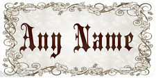 Abigail Aluminum Any Name Personalized Car Auto Tag Novelty License Plate