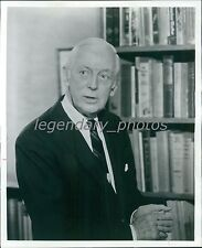 1972 Portrait of TV Host and Author Alistair Cooke Original News Service Photo