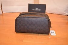 NWT Coach Signature Men's Travel Bag Toiletry Shaving Bag F93536 Rare MFSRP $175