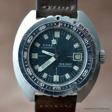 DOXA SHARKHUNTER 300t VINTAGE 1960's ORIGINAL DIVER NO LOGO ETA 2852 43MM STEEL