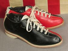 Vintage Torch Brand Leather Mens 2-Tone Bowling Shoes Sz.7 1/2 Great Condition!