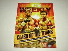 Las Vegas Weekly Magazine Floyd Mayweather vs Manny Pacquiao Boxing Issue NEW