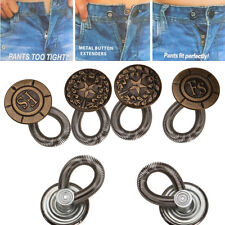 6PCS Men/Women Jeans Pants Fix Expanders Waist Stretch Extender Metal Button New
