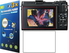 3x Clear LCD Screen Protector Guard Cover Film Canon PowerShot G1 X G1X Mark II