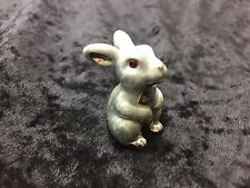 Silver PLATED DECORATED W/ SWAROVSKI CRYSTAL ELEMENTS Bunny Rabbit PEWTER