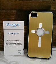 L@@K iPhone Case 4 4s Holy Element Israel Christian Yellow Cross Holy Water NEW