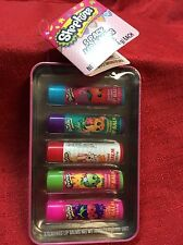 Shopkins Lip Balm 5 pack Gift set w/ Collectable Tin NEW