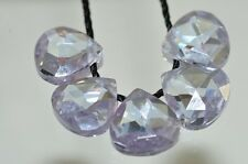 5Pcs 8x8x4mm LILAC CUBIC ZIRCONIA Faceted Pear Onion Briolette Beads - G0918