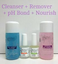 Harmony Gelish 4pc Kit - CLEANSE 4oz + REMOVER 4oz + pH Bond + Cuticle Oil