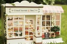~ON SALE ~DIY WOODEN DREAM DOLLHOUSE(A-008) -DONUT SHOP with MORE DONUT AND CAKE