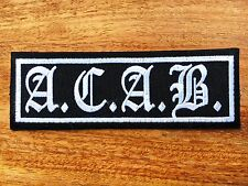 The A.C.A.B. Sew Iron On Patch Embroidered Rock Band Heavy Metal Music Logo
