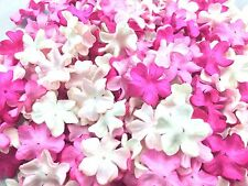 100 Mixed Pink Tone & White  Flowers mulberry paper for Craft & D.I.Y
