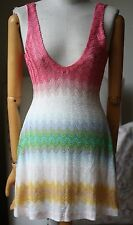 MISSONI MARE WAVE STRIPE KNIT MINI DRESS IT 40 UK 8