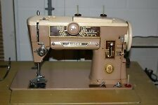 VINTAGE SINGER 401A SLANTOMATIC ALL METAL GEAR HEAVY DUTY SEWING MACHINE