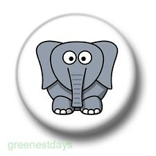Cute Cartoon Elephant 1 Inch / 25mm Pin Button Badge Elephants Trunk Rawr Jungle