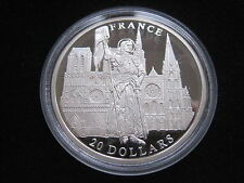 "MDS LIBERIA 20 DOLLARS 2001 PP / PROOF ""FRANCE"", SILBER #30"