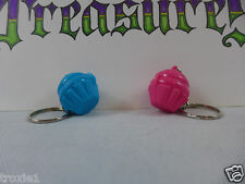 Tupperware Cupcake Keeper Mini Key Chains 2 Opens Keep Pills Mints Pink Blue New