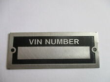 id nameplate VIN Number s26 etched