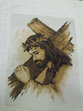 YOU CAN NOW BUY JESUS CROSS STITCH KIT IN 14,16 OR 18ct WITH ANCHOR OR  ARIADNA