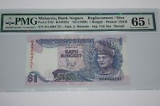 (PL) OLD PRICE: RM 1 BA 4684731 PMG 65 EPQ JAFFAR HUSSEIN 6TH SERIES UNC