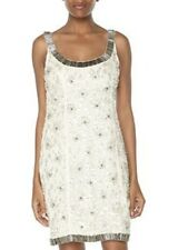 Yoana Baraschi Anthropologie crystal chandelier dress in gray NWT 4 $325.00