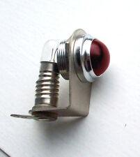 """Vintage RED dash gauge panel light Hot Rod  3/4"""" old dead stock JOHNSON Glass"""