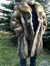 GENUINE REAL COYOTE FUR WINTER COAT taxidermy